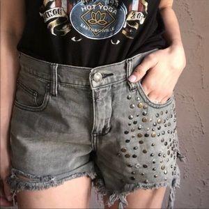 Free People Studded Shorts